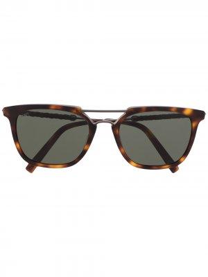 Tods солнцезащитные очки в квадратной оправе Tod's. Цвет: коричневый