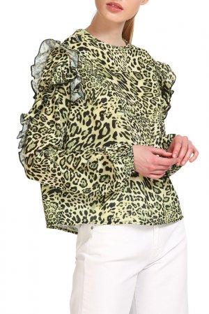 Блуза Fornarina. Цвет: зеленый