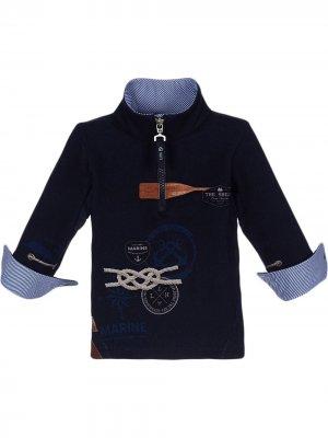 Пуловер с принтом Lapin House. Цвет: синий
