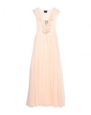 Длинное платье ATOS LOMBARDINI. Цвет: светло-розовый