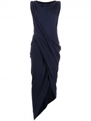 Платье миди асимметричного кроя Vivienne Westwood Anglomania. Цвет: синий