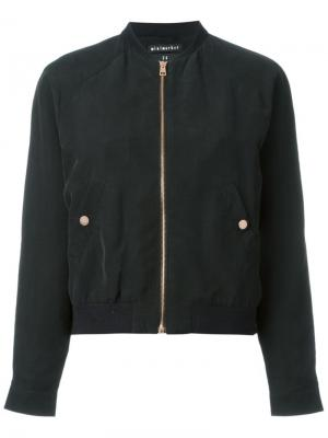 Куртка-бомбер Hapy Minimarket. Цвет: черный
