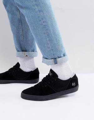Черные кроссовки Accel Slim eS Skateboarding. Цвет: черный