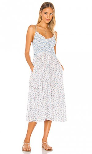 Платье миди canyon LoveShackFancy. Цвет: белый