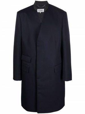 Concealed wool coat Maison Margiela. Цвет: синий
