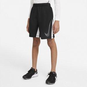 Шорты для тренинга с графикой мальчиков школьного возраста Dri-FIT - Черный Nike