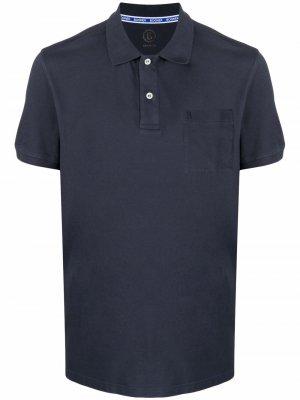 Рубашка поло с вышитым логотипом Bogner. Цвет: синий