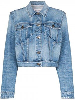 Укороченная джинсовая куртка FRAME. Цвет: синий
