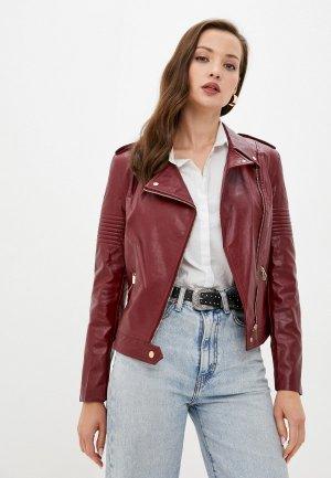 Куртка кожаная MD. Цвет: бордовый