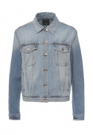 Куртка джинсовая Pinko PI754EWOIC48. Цвет: голубой