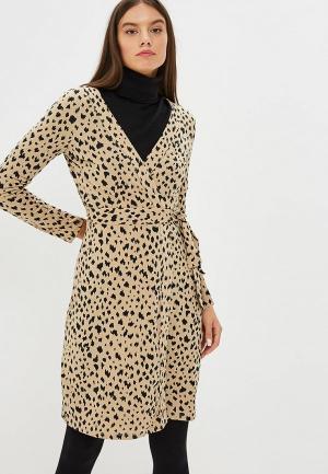 Платье Mango - PRINT. Цвет: бежевый