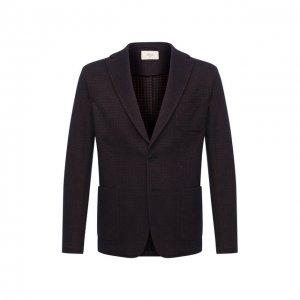 Пиджак из шерсти и хлопка Altea. Цвет: коричневый