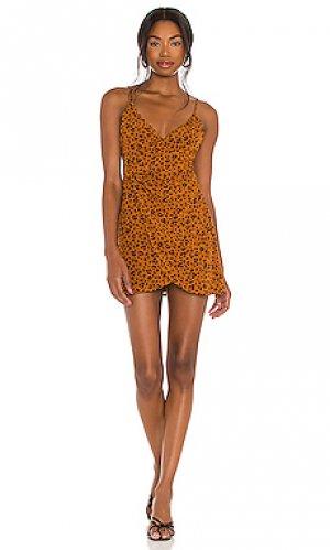 Мини платье dara Privacy Please. Цвет: тёмно-оранжевый