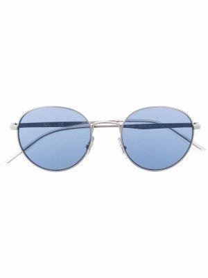 Солнцезащитные очки в круглой оправе с логотипом Ray-Ban. Цвет: серебристый