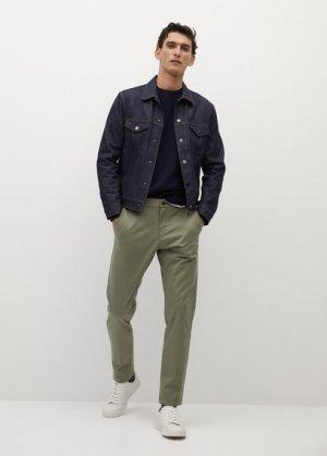 Укороченные брюки-чинос tapered - Prato Mango. Цвет: хаки