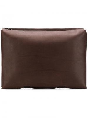 Сумка для ноутбука с молнией Troubadour. Цвет: коричневый