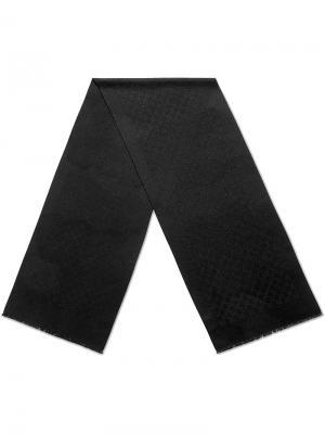 Кашемировый шарф с жаккардовым узором GG Gucci. Цвет: черный