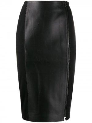 Юбка-карандаш на молнии Karl Lagerfeld. Цвет: черный