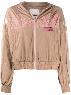 Куртка с кружевом и капюшоном Pinko. Цвет: нейтральные цвета