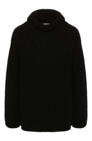 Хлопковый пуловер REDVALENTINO. Цвет: черно-белый