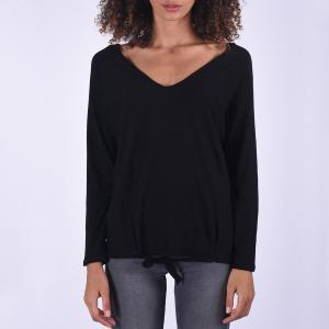 Пуловер в форме каш-кер из тонкого трикотажа KAPORAL. Цвет: черный