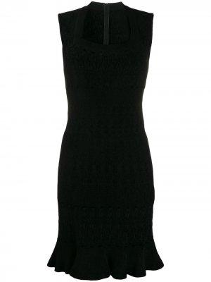 Трикотажное платье мини 2000-х годов Alaïa Pre-Owned. Цвет: черный