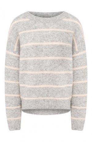 Пуловер в полоску Acne Studios. Цвет: серый