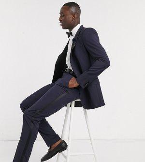 Темно-синие брюки скинни под смокинг Tall-Темно-синий ASOS DESIGN