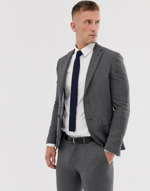 Серый пиджак Moss London BROS