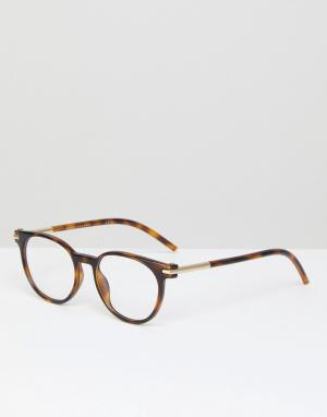 Round optical frames with demo lenses in tort Marc Jacobs. Цвет: коричневый