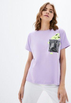 Футболка Dairos. Цвет: фиолетовый