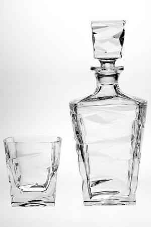 Набор для виски 7 шт. CRYSTAL BOHEMIA. Цвет: белый