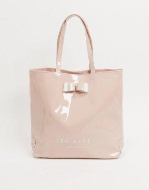 Лакированная большая сумка с бантом -Розовый Ted Baker