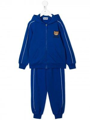 Спортивный костюм Teddy Bear Moschino Kids. Цвет: синий
