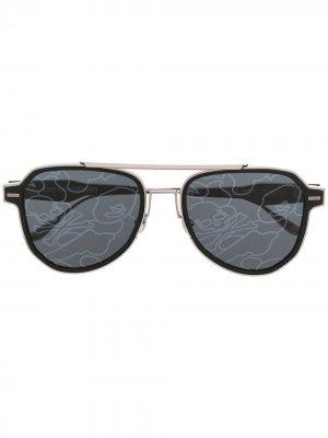 Солнцезащитные очки в квадратной оправе A BATHING APE®. Цвет: черный