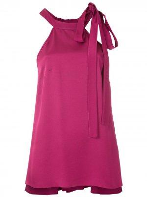 Блузка без рукавов с завязками Gloria Coelho. Цвет: розовый