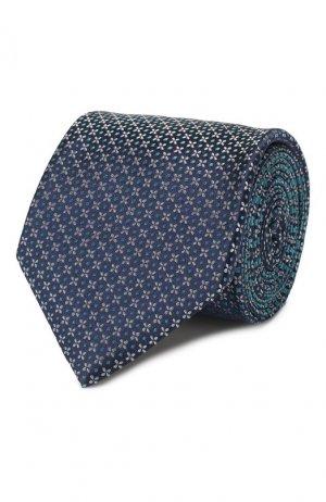 Шелковый галстук Brioni. Цвет: бирюзовый