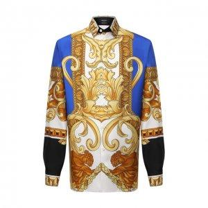 Шелковая рубашка Versace. Цвет: разноцветный