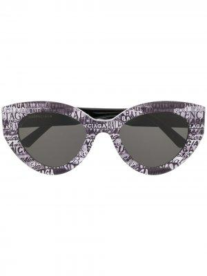 Logo print butterfly sunglasses Balenciaga Eyewear. Цвет: 004
