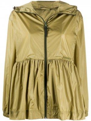 Многослойная куртка с капюшоном Duvetica. Цвет: зеленый
