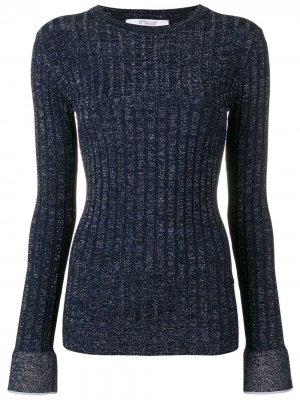 Пуловер в рубчик с люрексом Derek Lam 10 Crosby. Цвет: синий