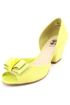 Туфли летние открытые Loucos & Santos. Цвет: зеленый