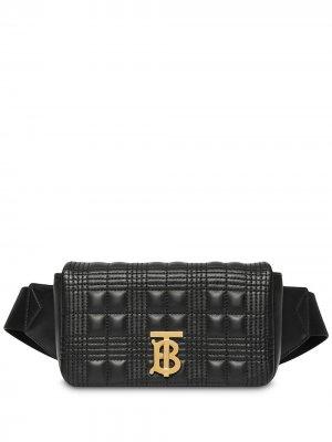 Стеганая поясная сумка Lola Burberry. Цвет: черный