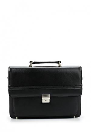 Портфель Franchesco Mariscotti. Цвет: черный