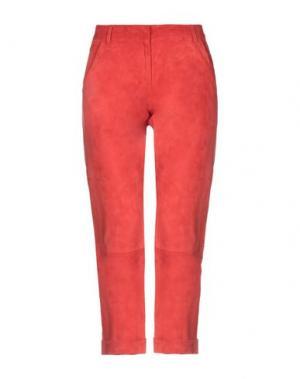 Повседневные брюки ENES. Цвет: коралловый