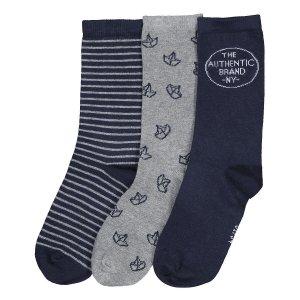 Комплект из 3 пар носков LaRedoute. Цвет: синий