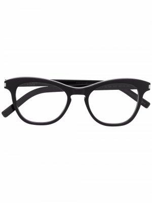 Очки SL356 в оправе кошачий глаз Saint Laurent Eyewear. Цвет: черный