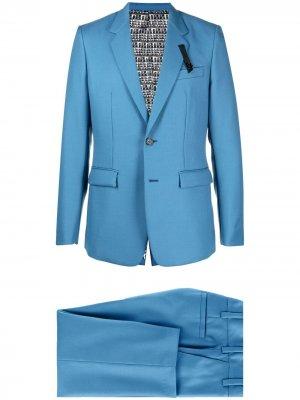 Костюм с однобортным пиджаком и укороченными брюками Viktor & Rolf. Цвет: синий