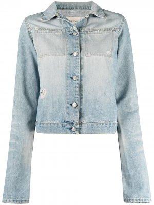 Джинсовая куртка 1990-х годов на пуговицах Helmut Lang Pre-Owned. Цвет: синий