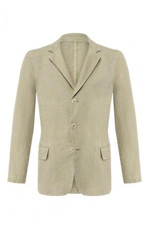 Льняной пиджак 120% Lino. Цвет: хаки